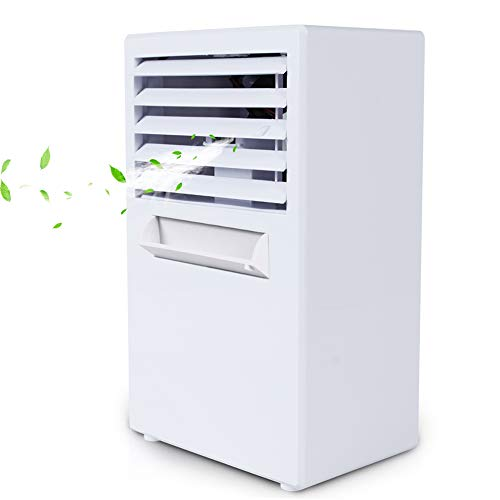 LIANGLIANG Air Conditioner Portable Desktop Add Water Refrigeration Small-scale Mute Mobile Cooling Fan Plastic, 2 Colors (Color : White, Size : 15x10x25cm) by LIANGLIANG-kongtiao