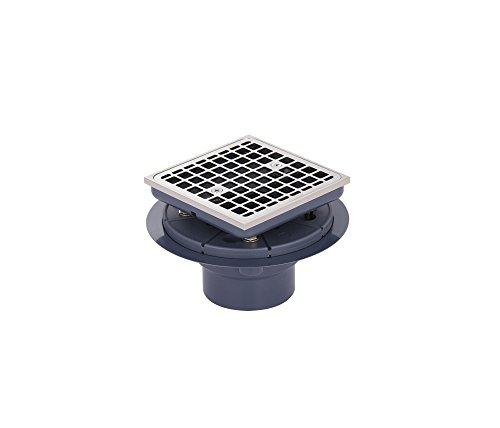 MSSD201SQBN Square Shower Drain with Brushed Nickel Finish by Magnus Sinks