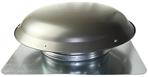 (Cool Attic CX1000AMWGUPS Power Roof Galvanized Steel Vent Dome with 3.4 Amp Motor, Weathered)