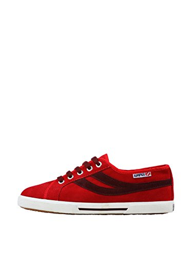 Sneakers - 2951-sueu Indian Red-Bordeaux