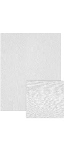 LUXPaper 8.5'' x 11'' Cardstock for Crafts and Cards in 111 lb. White Birch Woodgrain, Scrapbook Supplies, 50 Pack (White)