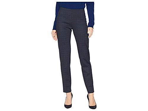 (Elliott Lauren Women's Modern Tartan Plaid Hidden Elastic Pull-On Ponte Pants Black/Blue 2 30)