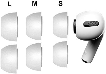 2-Pair Small, Grey Tencloud Ear Caps Compatible with Airpods Pro Earphone Tips Soft Memory Foam Earphones Earbuds Earplugs Eartips Cover Case Ear Cushions Covers Eargels for Airpods Pro//Airpods 3