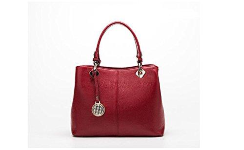 Los nuevos bolsos de cuero del hombro, la Sra bolsa de cuero simple, la bolsa de mensajero del ordenador portátil red