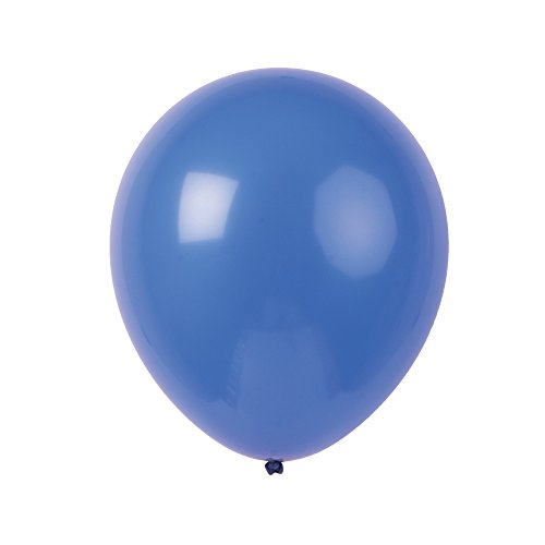 Topenca Party Supplies, 12 Inches Solid Latex Balloons, 50 Pack, Dark Blue