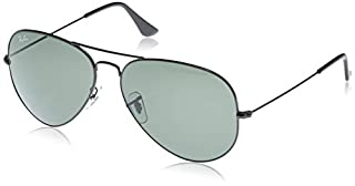 Men's Aviator Large Metal Ii Aviator Sunglasses, BLACK, 62 mm (B000MSIP3Y) | Amazon price tracker / tracking, Amazon price history charts, Amazon price watches, Amazon price drop alerts