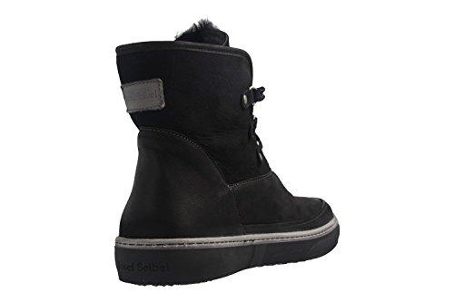 Josef Seibel Ladies Boots - Caro 25 - Scarpe Nere Oversize