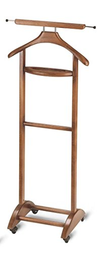 GARRET - Vintage Style Valet in Solid Beech Wood - Handcrafted in Italy - Cherry Finish by ARIS - TRULY MADE IN ITALY