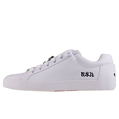 Ash Nirvanna White ASH Black Nappacalf Womens Trainers F1dROP