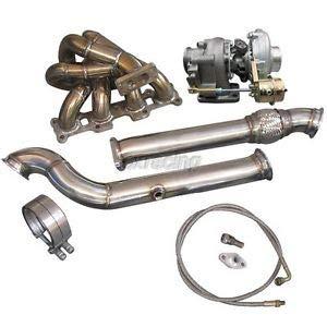 Turbo Manifold DownPipe Kit For Mazda Miata MX-5 1.8L NA-T T3