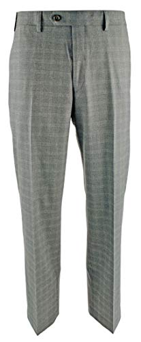 - Ralph Comfort Flex Flat Front Dress Pants-G-33Wx30L Grey
