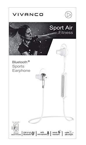 Vivanco 38921 Auriculares Bluetooth Inalambricos Deportivos, Manos Libres, 6 Horas de Batería: Amazon.es: Informática
