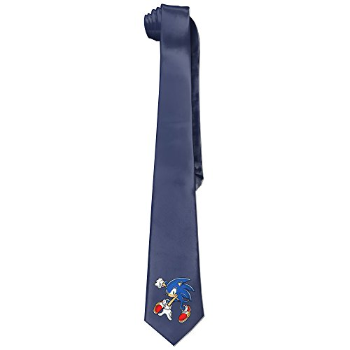 Ggift Sonic The Hedgehog Men's Fashion Business Solid Necktie Neck Ties (Super Sonic Costume)