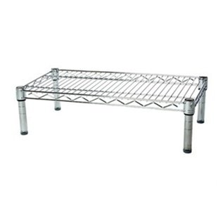 14''d x 24''w Chrome Wire Shelving with 1 Shelf by Shelving Inc
