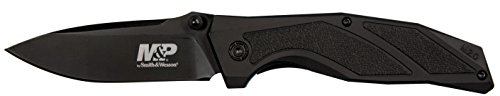 Smith & Wesson M&P M2.0 8.07in Stainless Steel Folding Knife with 3.5in Clip Point Blade and Aluminum Handle for Outdoor Tactical Survival and Everyday Carry by Smith & Wesson