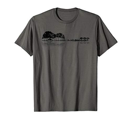 Best Line 6 Acoustic Guitar Strings - Acoustic Guitar Treeline T-Shirt Sunset Six
