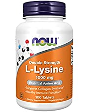 Now Foods L-Lysin Double Strength Tablets, 1000mg (100 Tablets)