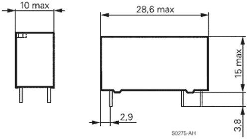 Schrack Relais V23061-A1007-A302 24V DC max 250V//8A
