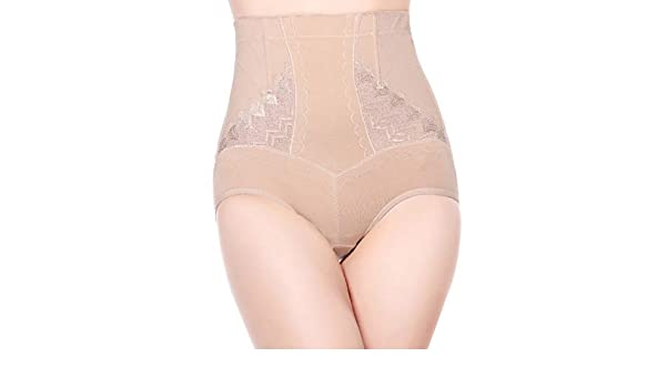 17166c2b883a9 AOBRITON High Waist Underwear Abdomen Pants Butt-Lifting Control Panties  Lace Belly Slimming Body Shaping Shapers Corset at Amazon Women s Clothing  store