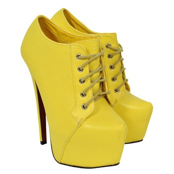 f356a1ac3a1 BEBO Bootie Platform Shoes (Yellow)  Amazon.co.uk  Shoes   Bags