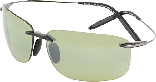 Maui Jim Olowalu Sunglasses, Translucent Grey & Gunmetal/Maui Ht, One - Lens Jim Ht Maui