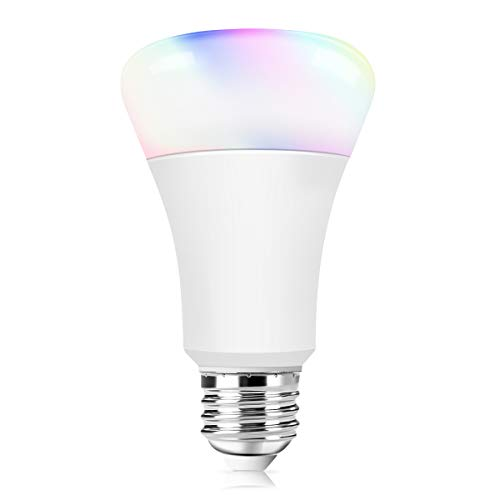 WiFi Smart Bulb, Morpilot Alexa WiFi Led Light Bulbs - 7.5W E27 B22 RGB Dimmable Multicolored Lamp Compatible with Alexa Echo Voice Remote Control by Smartphone iOS/Android