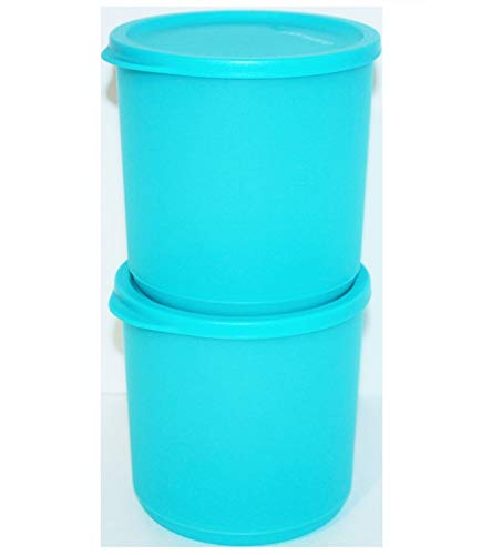 Tupperware Modular Rounds Set of 2 Basic Bright 5 Cup Blue S