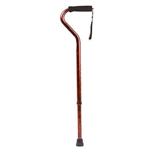 DMI Adjustable Designer Cane with Offset Handle, Comfort Grip and Strap, Copper Swirl (Swirl Handles)