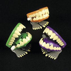 WINDUP CHOMPING MONSTER TEETH (1 DOZEN) - BULK by FX