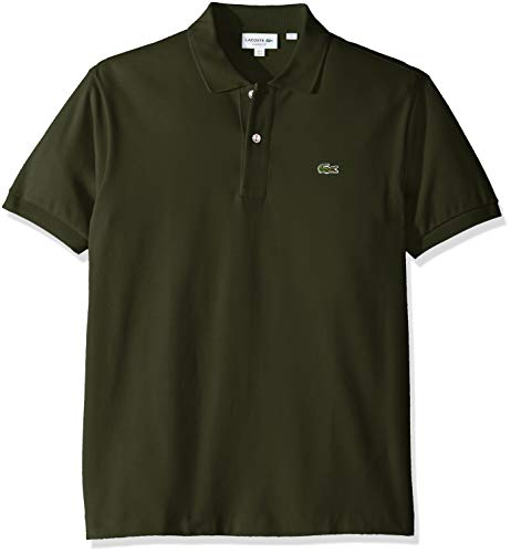 Lacoste Men's Short Sleeve Pique L.12.12 Classic Fit Polo Shirt,  Spruce Green, ()