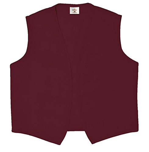 Rexzo Unisex Vest No Pocket No Buttons- Made in The USA - Maroon, Large -