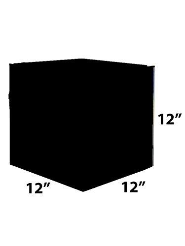 Acrylic Lucite Cube Pedestal Art Sculpture Stand black 12