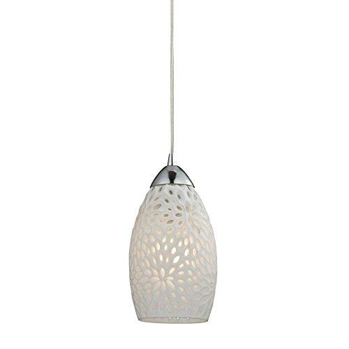 Elk Elliptical - Elk Lighting 10245/1 Ceiling-Pendant-fixtures, White