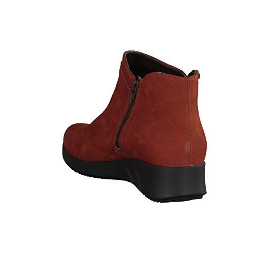 Mephisto Margaux- Damenschuhe modische Stiefelette, Rot, leder (bucksoft), absatzhöhe: 30 mm