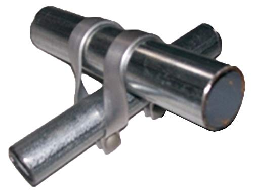 """1 3/8"""" x 1 3/8"""" Cross Connectors – Purlin Clamps for Greenhouses – Heavy Duty Steel – Sets of 6 by Growers Solution by Stephens Pipe (Image #1)"""