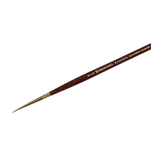 Escoda Reserva 1212 Watercolor & Acrylic Kolinsky-Tajmyr Sable Paint Brush Round Pointed; Size 3/0