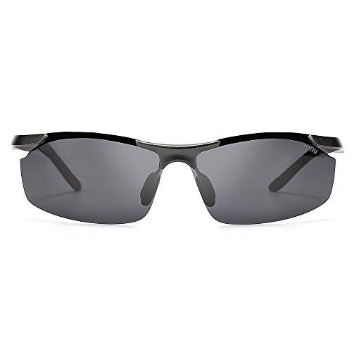 sol de al libre de para hombres BOYOU deportes gafas sol gris aire de los gafas zAqXf