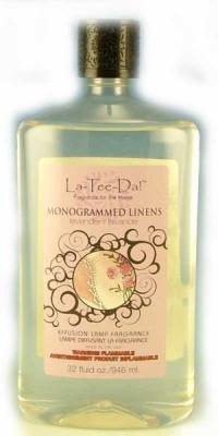 La-Tee-Da Effusion and Fragrance Lamp Oil Refills - 32 oz - MONOGRAMMED (Lamp Oil Refills)