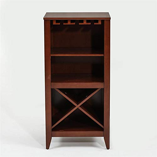 Pemberly Row Walnut Finish Wine Cabinet by Pemberly Row