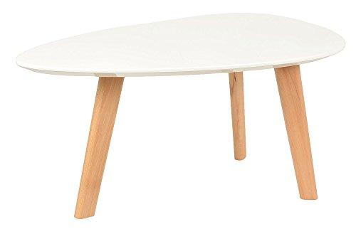 Ts Ideen Design Beistelltisch Oval Holz Weiß Mdf Kaffeetisch
