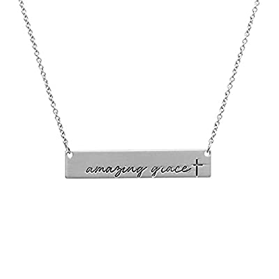 Riah Fashion Women's Message Bar Necklace