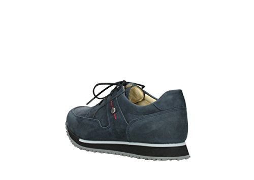 Trainers 20809 Walk Comfort Stretch Leather e Blue Wolky UqP8xwHH