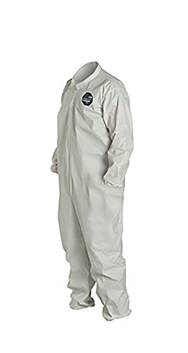 Pack of 25 3X-Large White Elastic Cuff DuPont ProShield 60 NG125S Disposable Protective Coverall