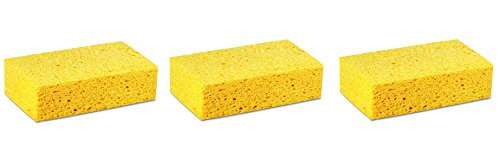 Premiere Pads PAD CS3 Large Cellulose Sponge, 7-51/64'' Length by 4-17/64'' Width, Yellow (Case of 24) (3-(Case of 24)) by Premiere Pads