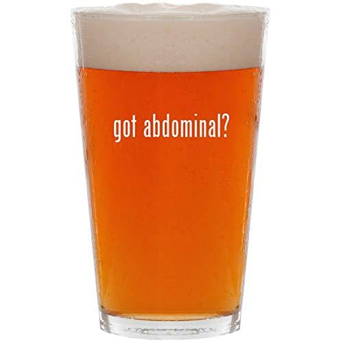 got abdominal? - 16oz Pint Beer Glass