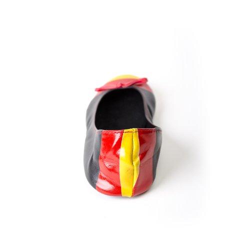 Chaussures tailles dans jusqu' disponibles les Ballerines pliables allemand femme drapeau rwqxr1FY8