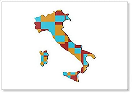 Show A Map Of Italy.Amazon Com Map Of Italy Classic Fridge Magnet Kitchen Dining
