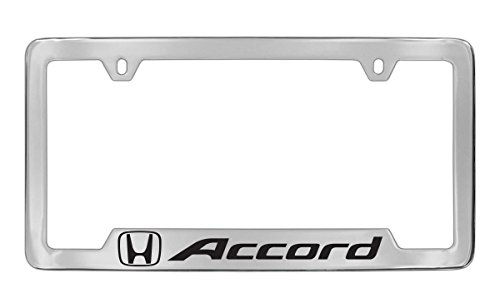 Honda Accord Chrome Plated Metal Bottom Engraved License Plate Frame ()