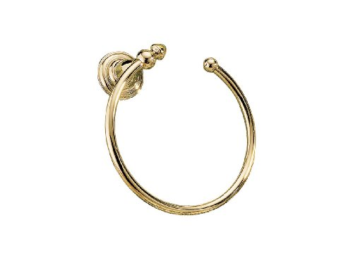 Delta Faucet 75046-PB Victorian Towel Ring, Polished Brass