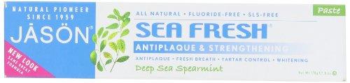Jason Natural Cosmetics Sea Fresh Dentifrice, Deep Sea menthe, 6 onces
